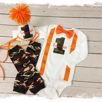 Boys CAMOUFLAGE 1ST BIRTHDAY Outfit.....Baby Boys Camo Birthday Set...Cake Smash Outfit....Photo Props for 1st Birthdays..Bow Tie Bodysuit