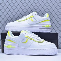 Samplefine2 Nike Air Force 1 New Macaron Couple Casual Sneakers Yellow
