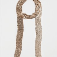 Copper Metallic Link Scarf