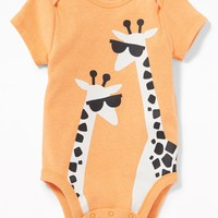 Graphic Jersey Bodysuit for Baby|old-navy