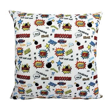 Super Hero BASH BOOM BAM | Anime | Fun Gifts | Pillow Cover | Home Decor | Throw Pillows | Happy Birthday | Kids Room | Room Decor
