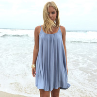 Melody Jersey Dress In Baby Blue