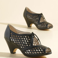 Perf Your While Heel in Noir | Mod Retro Vintage Heels | ModCloth.com