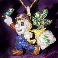 New  Cartoon Character Money Bag Pendant Chain