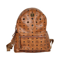 MCM MUNCHEN Tan COGNAC VISETOS Canvas STARK BACKPACK Shoulder Bag