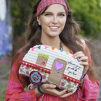 Camper  Go  With  All  Your  Heart  Boho  Mattress  Ticking  Pillow  From  Natural  Life