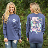 Floral Printed Women Casual Long Sleeve Round Necked Alphabets Words Top _ 10229