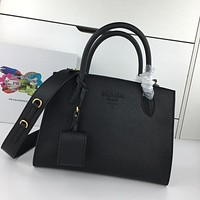 prada women leather shoulder bags satchel tote bag handbag shopping leather tote crossbody 372
