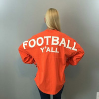 Football Y'all Spirit Jersey in Orange