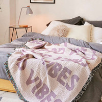 Good Vibes Woven Throw Blanket | Urban Outfitters