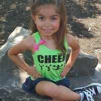 Cheer Kids Tank - Girl's Clothing - Cheerleader - Cheer Shirt - Glitter - Ruffles With Love - RWL Kids