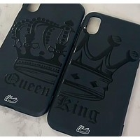 King / Queen 3D Cases for iPhone - Black Case