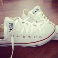 Converse Fashion Canvas Flats Sneakers Sport Shoes White-2
