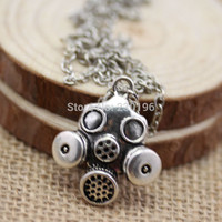 Doctor Who Gas Mask Necklaces Steampunk Neo Victorian Gothic Zombie Apocalypse Cyber Goth
