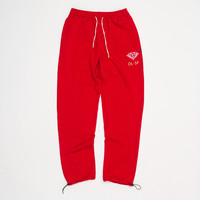 DL-SF Sweatpants in Red - SWEATPANTS - BOTTOMS