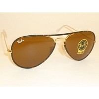 Cheap New RAY BAN Sunglasses FULL COLOR Gold Tortoise RB 3025JM 001 B-15 Brown 58mm