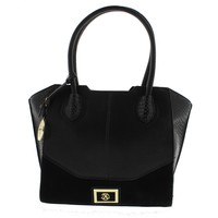 Christian Lacroix Womens Camille Faux Leather Embossed Tote Handbag