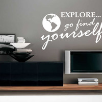 Explore Find Yourself | Motivational Decal | Vinyl Wall Lettering