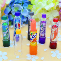 Rainbow Color changeable cute Lip Balm cola Lipstick Wax Cup Lip Smacker Baby Lips Balm Brand Makeup Fullips Colour Magic