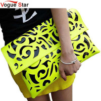 Fuorescence color hollow-out envelope bags