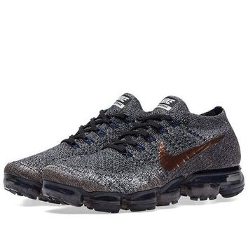 DC-CK Men's Nike Air Vapormax Flyknit Black/Metallic Red Bronze | X-Plore Pack 849558 010 size 12