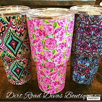 Designer Inspired Insulated Tumblers.