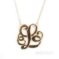 Single Initial Cut Out Necklace | Marleylilly