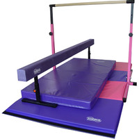 Pink and Purple Little Gym Deluxe - Gymnastics Equipment by Nimble Sports