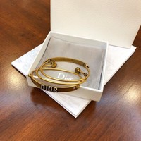 DCCK Dior's autumnwinter collection Dior retro gold-plated three-bracelet set