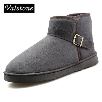 Valstone lovers winter casual Velvet shoes Women's slip-on breathable Fluff shoes warm walking Snow boots hombre couple size 45