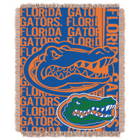 Florida Gators NCAA Triple Woven Jacquard Throw (Double Play Series) (48x60)