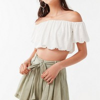 UO Leaf Tie-Belt Short | Urban Outfitters