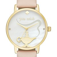 kate spade new york metro wish leather strap watch, 34mm | Nordstrom
