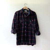 20% OFF SALE..Vintage boyfriend flannel / Grunge Shirt