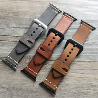 URVOI handmade retro leather band for apple watch series 1 and 2