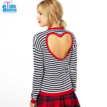 New Back Heart Hollow T-Shirt