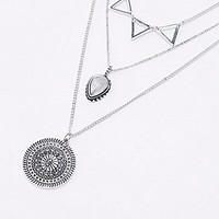 Filigree Layering Necklace in Silver - Urban Outfitters