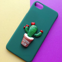 Heart-shape Cactus iPhone 7 7 Plus & iPhone 6 6s Plus & iPhone 5s se Case Personal Tailor Cover + Gift Box-481