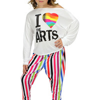 Dirtee Hollywood Dance I Love the Arts Top | Mod Angel