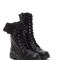 Admit The Quilt Faux Leather Boots