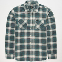 Rvca Bends Mens Flannel Shirt Blue  In Sizes