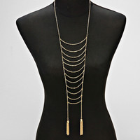 Tassel Ladder Necklace Gold