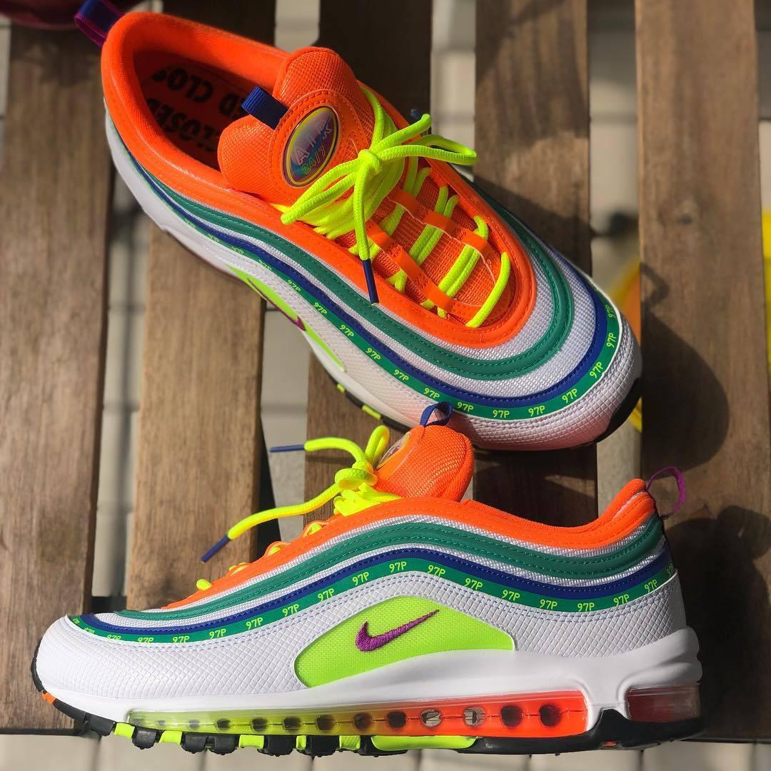 """Image of Nike Air Max 97 """"London - On Air""""Rainbow running shoes"""