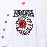 Mishka Away Keepwatch Long Sleeve T-Shirt - Mens Tee - White