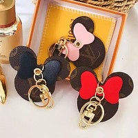 Louis Vuitton LV Fashion Hot Sale Women's Printed Letters Contrast Cute Keychain