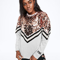 Sequin Bling Campus Crew - PINK - Victoria's Secret