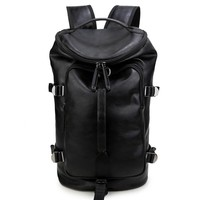 Comfort College Hot Deal On Sale Stylish Back To School Vintage Men Casual PU Leather Backpack [6542365635]