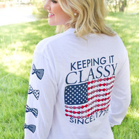 JADELYNN BROOKE: Keeping it Classy LS Tee