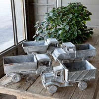 Aged Metal Trucks, 4 Assorted Styles, Set of 4