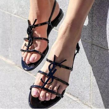 YSL Yves Saint Laurent Fashion Women Sandals Shoes